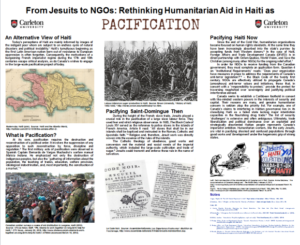 Poster with images and maps descripbed in the captions