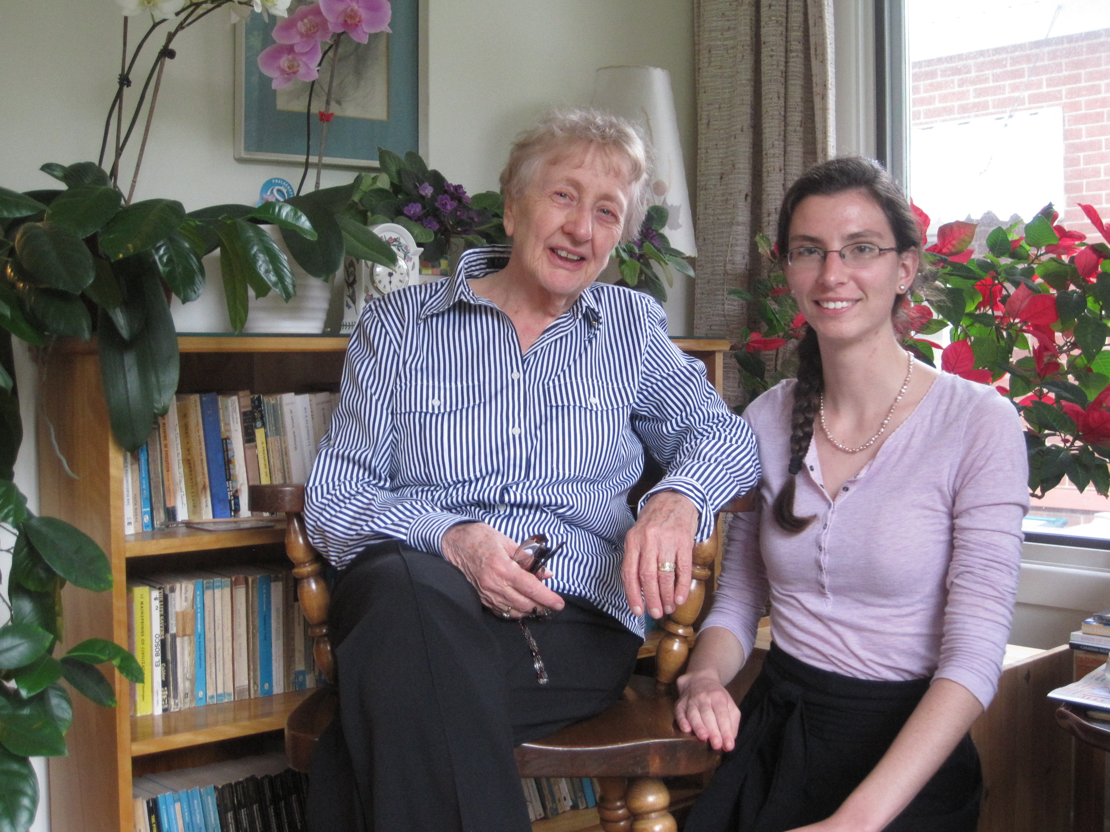 Naomi Griffiths, retired Professor of European, Acadian and Women's history, interviewd by honour's research assistant Katie Menendez, summer 2013