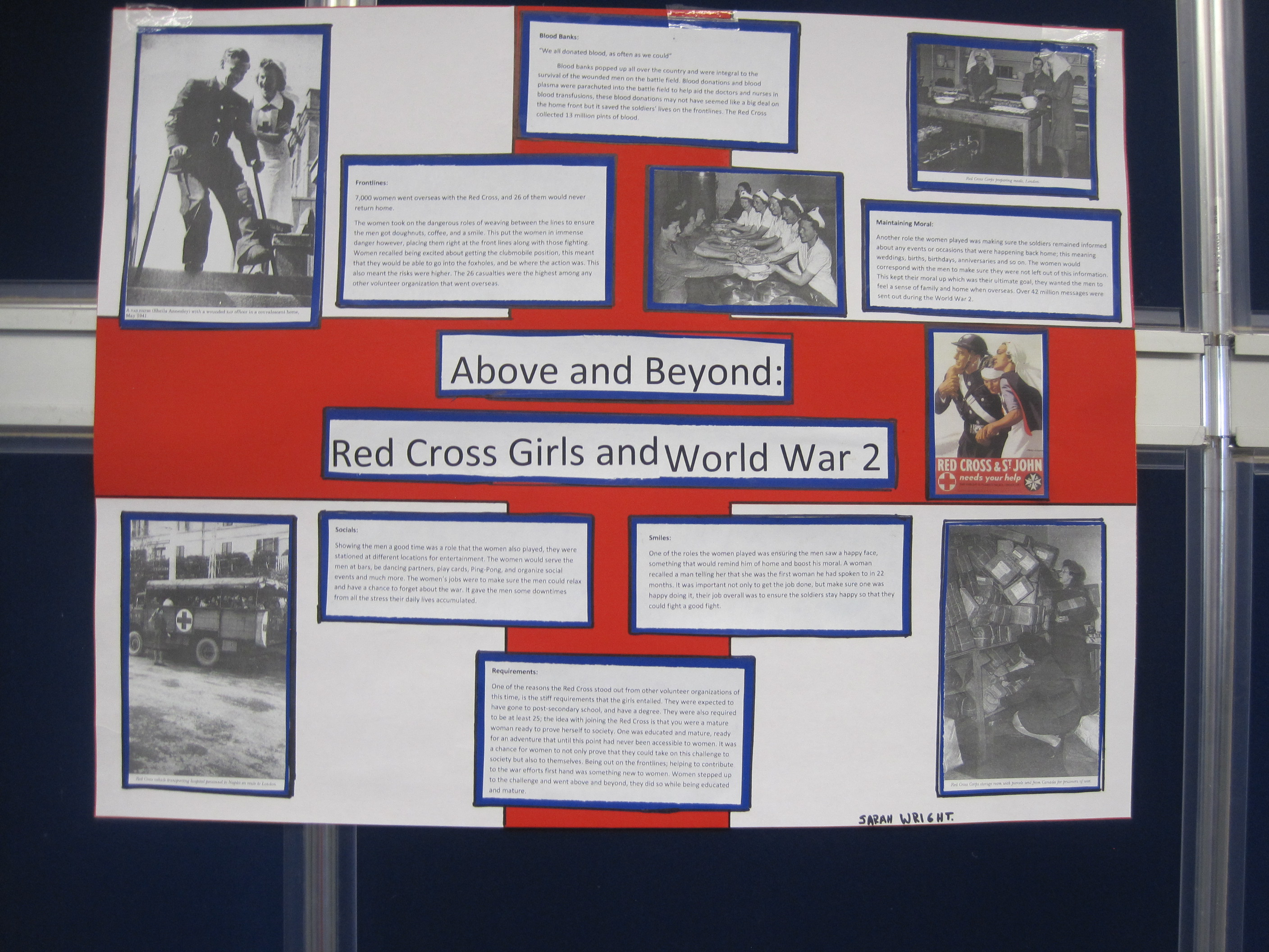 Red Cross and Women during World War Two