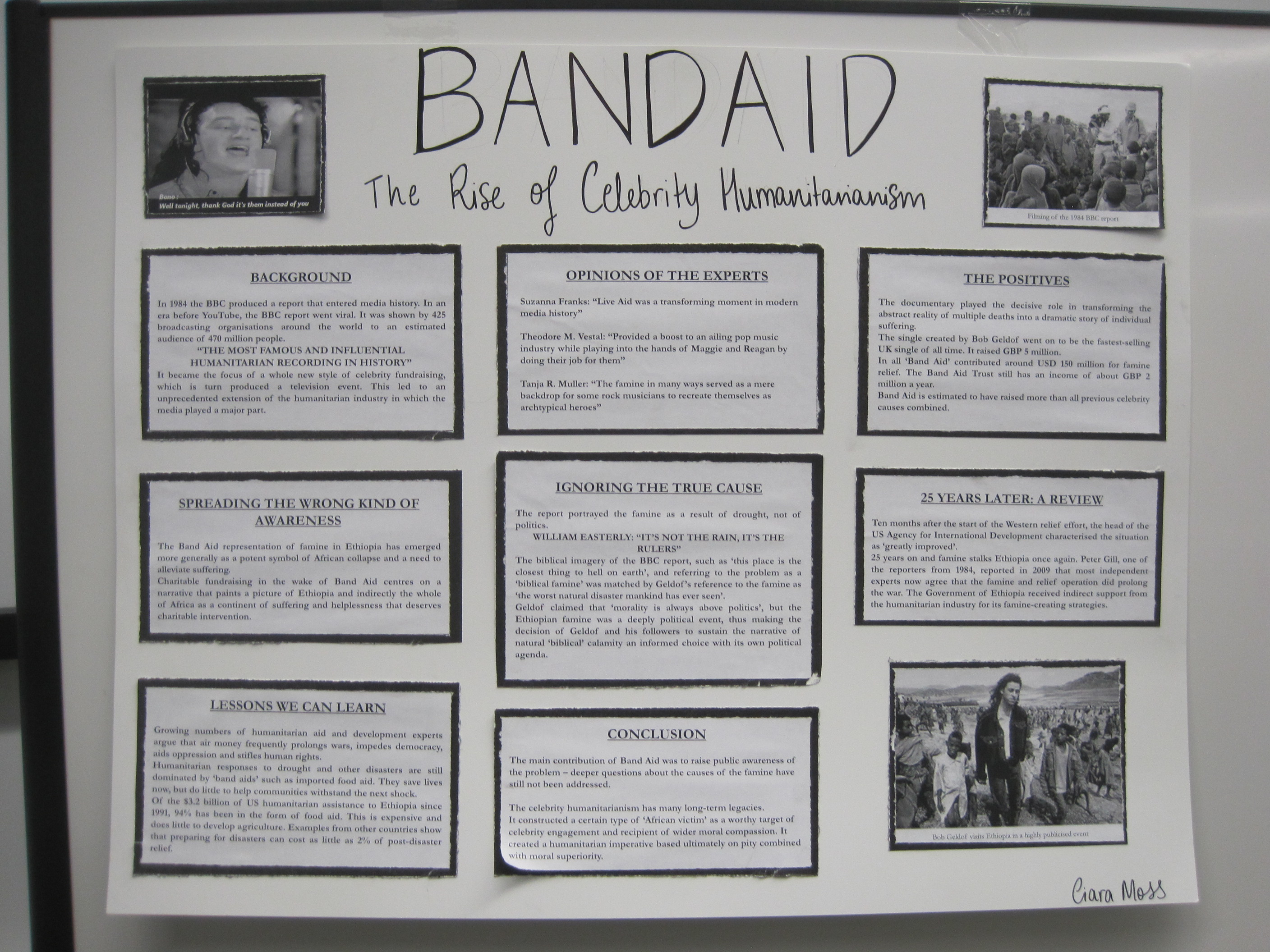Band Aid and the EthiopianFamine, 1984-5
