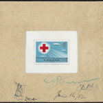 Approved model of Canadian stamp for the 1963 Red Cross Centenary, LAC