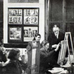 The artist and educator Franz Cizek in his workshop in Vienna