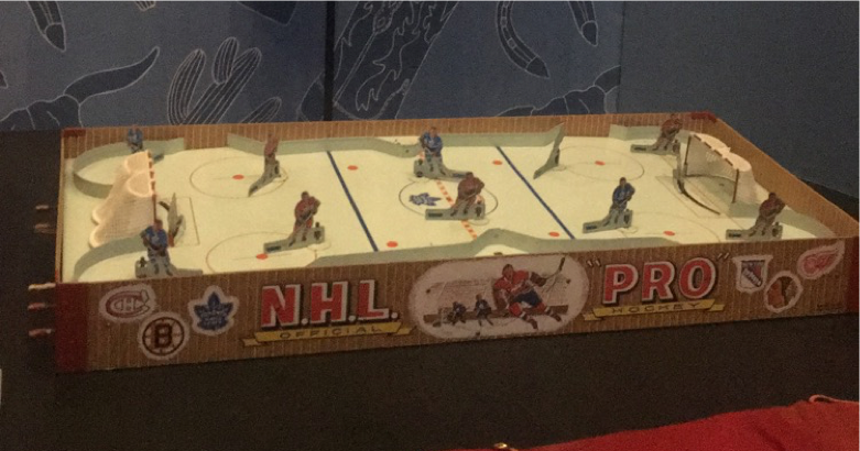 a N.H.L Pro table hockey game table from the 1950s
